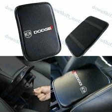 Embroidery For DODGE Carbon Fiber Center Console Armrest Cushion Pad Cover Mat