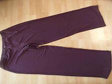 CORA KEMPERMAN schöne ganz leichte Jerseyhose lila Gr. M w. NEU SJ216