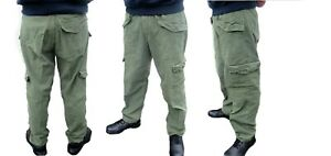 Vintage Swedish air force denim combat cargo trousers pants army military 1960s