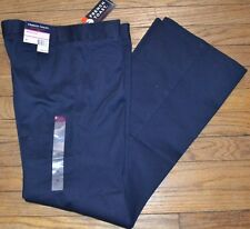 French Toast Bootcut Navy Blue Pants Wrinkle No More Adjustable Waist Size 16