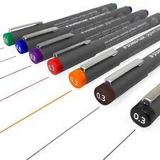 Staedtler 308 Pigmento Liner Fineliner – 0.3 Mm-juego completo de 7 Colores