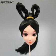 "DIY Kids Toy Black Hair 1/6 Doll Head For 11.5"" 3D Eye Chinese Beauty Doll Head"
