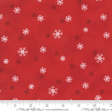 JOL Snowflakes Red #04-16 Christmas Moda Quilting Fabric by the 1/2 yard
