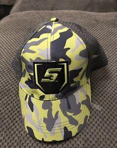 Genuine Snap-On Tools Hi Viz Camo Embroidered Baseball Cap Hat Brand New
