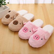 Men Women Couple Winter Indoor House Pig Slippers Anti-slip Gift Home Warm New!
