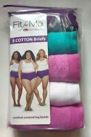 Fit for Me Fruit of the Loom Women's Plus Size Briefs Panties, SZ 9, five pairs