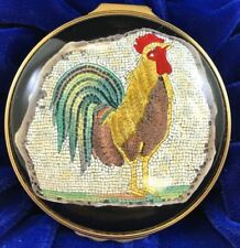 Halcyon Days Enamels - 1st Century Mosaic Cockerel
