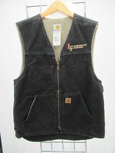 C1260 VTG Carhartt Men's Rugged Sherpa Lined Sandstone Vest Size M
