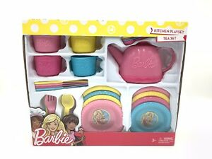 Barbie Kitchen Tea Pot Playset New 30 Pieces