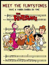 THE FLINSTONES FRIDGE MAGNET. SHEET MUSIC FROM TV SHOW.....FREE SHIPPING