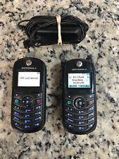 Motorola C139 At&T/Cingular Go Phone- Black Gsm Cell Phone x2