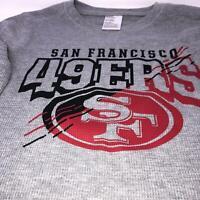 NFL San Francisco 49ers Long Sleeve Shirt Sweatshirt Size Youth Medium