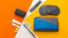 Furla Eva Air Blue Grey Cosmetic Bag Amenity Travel Bag Kit Business Class