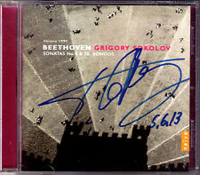Grigory SOKOLOV Signiert BEETHOVEN Piano Sonata 4 28 + 3 Rondo CD Klaviersonaten