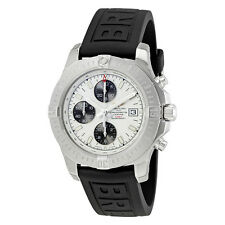 Breitling Colt Chronograph Automatic Silver Dial Black Rubber Mens Watch