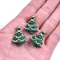 5PC Lovely Christmas Tree Resin Charm Pendant For DIY XMS Jewelry&Craft Making