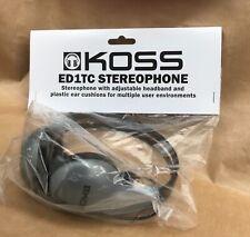 KOSS ED1TC STEREO-PHONE   HEAD PHONES  WITH ADJUSTABLE HEADBAND.
