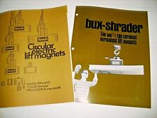 BUX SHRADER CIRCULAR ELECTRIC LIFT  MAGNETS   .     SHOP EQUIPMENT