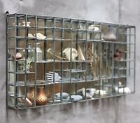Wall Hanging Industrial Oni Mirror Display Shelf Cabinet Style Shelves Crystal