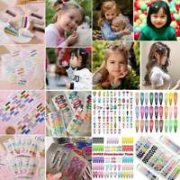 Candy Color Girl Kids Hair Clip Hairpins Barrettes BB Clip Snap Hair Accessories