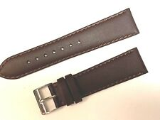 EURO TOSCANA 22MM R GENUINE WATCH LEATHER WATCH BAND BROWN PREMIUM QUALITY