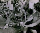 LG801 1961 Original Photo MASONIC SHRINERS CLOWN Entertaining Children Kids
