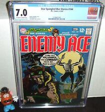 STAR SPANGLED WAR STORIES #144 DC 1969 ENEMY ACE NEAL ADAMS & JOE KUBERT CGC 7.0