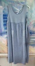 Women's Lovely Blue Gingham Sleeveless Sundress By Get! Sz. M