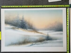 ARNOLD ALANIZ Print 25in x 37.5 in - winter lithograph