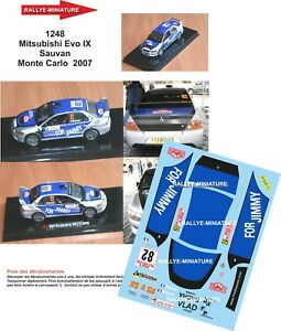 Decals 1/43 Ref 1248 Mitsubishi Lancer Sales Rally Mounted Carlo 2007 Rally WRC