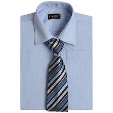 Boys Shirts Long Sleeve Cotton Blend Formal Shirt and Tie, Boys Smart Suit Shirt