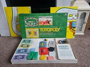 Vintage Waddingtons Totopoly The Great Race Game Board Game 1972 - 100% Complete