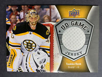 2016-17 Upper Deck UD Game Jersey #GJ-TR Tuukka Rask Boston Bruins Patch