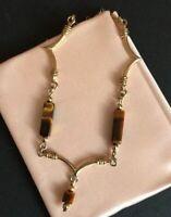Vintage Gold filled 1/20 12K GF BB Binder Brothers Necklace Chain Cat Eye