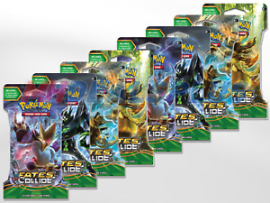 Pokemon TCG XY Fates Collide x8 Sleeved Boosters - 8 Packs