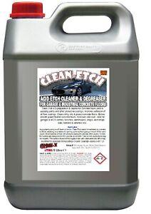 Acid Etch Cleaner & Degreaser Garage & Industrial Concrete Floors CLEAN-ETCH 5 L