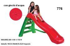Scivolo Gioco Ad Acqua Per Bambini Baby Da Giardino 4 Gradini Esterno 200x99x100