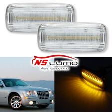 Clear Front Led Side Marker Lights for Chrysler 200 300 Sebring Town & Country