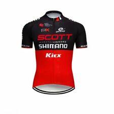 SCOTT Cycling Jersey Black Red Mens Bike Racing Shirt