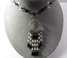 Vintage Art Nouveau Deco Transitional CZECHOSLOVAKIA Czech Glass Ring Necklace