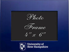 University of New Hampshire - 4x6 Brushed Metal Picture Frame - Blue