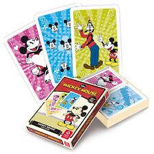 3 Disney Mickey Mouse Retro Edition Romme Kartenspiele, Walt Disney bei Frobis
