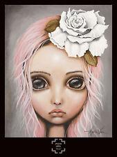 Eloise by Angelina Wrona Art Print Poster Fantasy Girl Pink Hair Rose 32x24