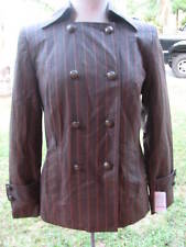 Juliana Collection Size 4 Wool Jacket Blazer PinStripe SteamPunk NWT $475