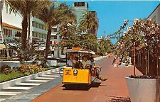 Florida postcard Miami Beach, Lincoln Mall sightseeing Tram