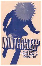 Wintersleep 2012 Gig Poster Portland Oregon Concert