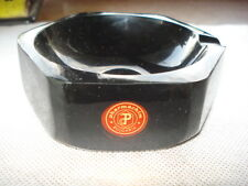 BLACK CATALIN BAKELITE ASHTRAY HEXAGONAL RARE PERFECT MARKED CATALIN ASH TRAY