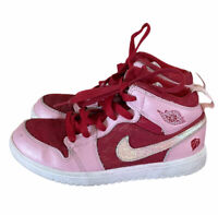 Nike Air Jordan Valentine's Day  Pink red White Youth Size 1Y high top sneakers
