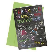 #263 Best Teacher Ever Graduation Birthday Greetings Card Comedy Funny