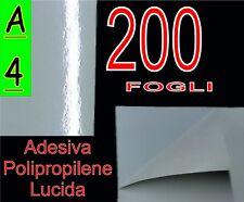 200 FF A4 ADESIVA VINILE BIANCA LUCIDA POLIPROPILENE X STAMPANTE LASER PVC